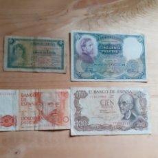 Lotes de Billetes: LOTE DE BILLETES ESPAÑOLES, VARIOS AÑOS. Lote 236140925
