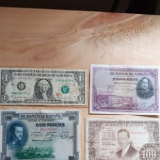 Lotes de Billetes: LOTE DE BILLETES ESPAÑOLES, UNO DE U.S.A.. Lote 236141870