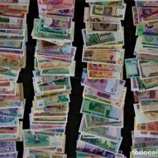 Lotes de Notas: GRAN LOTE 150 BILLETES DEL MUNDO GENUINOS DE CURSO LEGAL CALIDAD UNC TODOS DIFERENTES. Lote 240044965