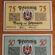 Lotes de Billetes: ALEMANIA. 3 BILLETES NOTGELD STADT BURG AUF FEHMARN (SERIE COMPLETA). SIN CIRCULAR!!!. Lote 242405700