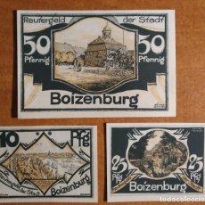 Lotes de Notas: ALEMANIA. 3 BILLETES NOTGELD STADT BOIZENBURG (SERIE COMPLETA). SIN CIRCULAR!!!. Lote 242406505