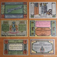 Lotti di Banconote: ALEMANIA. 6 BILLETES NOTGELD STADT LANGENESS-NORDSMARSCH (SERIE COMPLETA). SIN CIRCULAR!!!. Lote 242407045