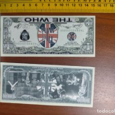 Lotes de Billetes: BILLETE CONMEMORATIVO DOLARES DOLAR - USA - THE WHO BANDA BRITANICA LONG LIVE ROCK. Lote 242899415