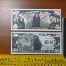 Lotes de Billetes: BILLETE CONMEMORATIVO DOLARES DOLAR - USA - AC DC BRIAN JOHNSON, DE AC/DC:. Lote 242900060