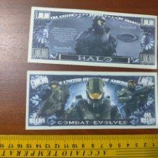 Lotes de Billetes: BILLETE CONMEMORATIVO DOLARES DOLAR - USA - HALO COMBAT EVOLVED. Lote 242900665