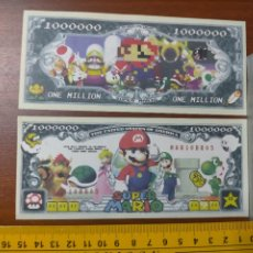 Lotes de Billetes: BILLETE CONMEMORATIVO DOLARES DOLAR - USA - GAMES - SUPER MARIO BROS - IN GOD WE TRUST. Lote 242900790