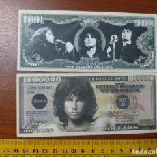 Lotes de Billetes: BILLETE CONMEMORATIVO DOLARES DOLAR - USA - JIM DOUGLAS MORRISON. Lote 242901740