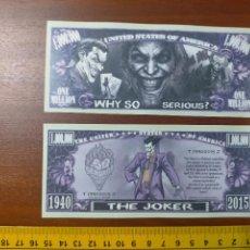 Lotes de Billetes: BILLETE CONMEMORATIVO DOLARES DOLAR - USA - THE JOKER. Lote 242901915