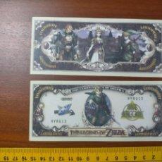 Lotes de Billetes: BILLETE CONMEMORATIVO DOLARES DOLAR - USA - THE LEGEND OF ZELDA. Lote 242902160