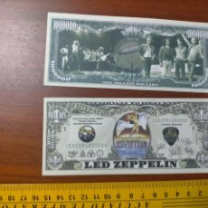 Lotes de Billetes: BILLETE CONMEMORATIVO DOLARES DOLAR - USA - LED ZEPPELIN. Lote 242902295
