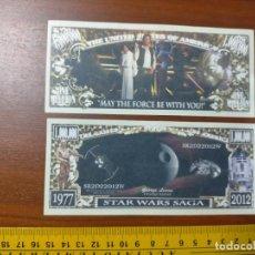 Lotes de Billetes: BILLETE CONMEMORATIVO DOLARES DOLAR - USA - STAR WARS SAGA. Lote 242903200