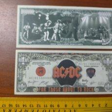 Lotes de Billetes: BILLETE CONMEMORATIVO DOLARES DOLAR - USA - AC DC AC/DC:. Lote 242903475