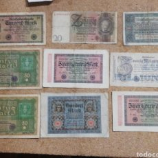 Lotes de Billetes: LOTE 9 BILLETES ALEMANIA 1919 A 1929 - 9 BANKNOTES LOT GERMANY 1919 TO 1929. Lote 245503780