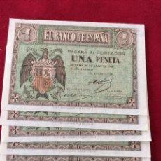 Lotes de Billetes: LOTE DE 6 BILLETES DE 1 PESETA. Lote 247030745