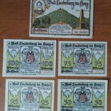 Lotes de Billetes: ALEMANIA. 5 BILLETES NOTGELD STADT BAD LAUTERERG (SERIE COMPLETA). SIN CIRCULAR!!!. Lote 247352035