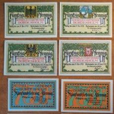 Lotes de Billetes: ALEMANIA. 8 BILLETES NOTGELD STADT BORDESHOLM (SERIE COMPLETA). SIN CIRCULAR!!!. Lote 247368815
