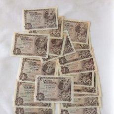 Lotes de Billetes: LOTE DE 22 BILLETES DE 1 PESETA. Lote 248693085