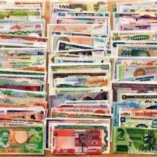 Lotes de Billetes: LOTE 125 BILLETES DEL MUNDO GENUINOS Y ORIGINALES DE CALIDAD UNC TODOS DIFERENTES. Lote 268767749