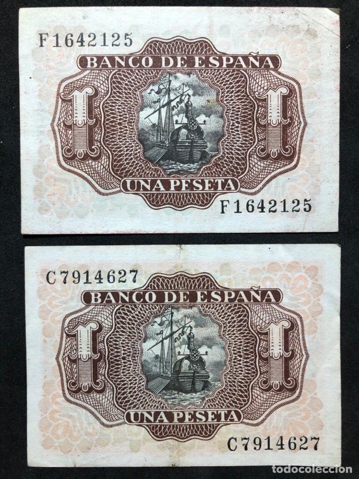 Lotes de Billetes: Pareja de billetes de 1 peseta de 1953 -Series C y F- EBC - Foto 2 - 249557600