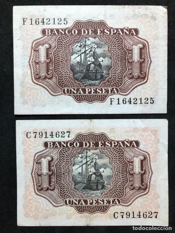 Lotes de Billetes: Pareja de billetes de 1 peseta de 1953 -Series C y F- EBC - Foto 4 - 249557600