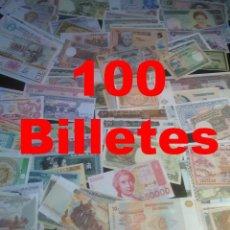 Lotes de Billetes: LOTE INICIACIÓN - 100 BILLETES MUNDIALES DIFERENTES SIN CIRCULAR. Lote 251841325
