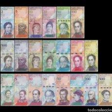 Lots de Billets: LOTE 21 BILLETES VENEZUELA 2007-2018 SIN CIRCULAR FULL SET 21 PCS BOLIVARES UNC BANKNOTES. Lote 252090845