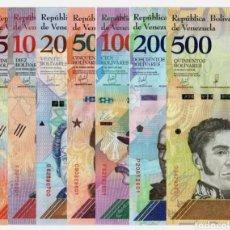 Lotes de Billetes: LOTE 8 BILLETES VENEZUELA 2018 SIN CIRCULAR FULL SET 8 PCS BOLIVARES UNC BANKNOTES. Lote 252710255