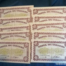 Lotes de Billetes: LOTE 10 BILLETES FIANZAS 10 PESETAS 1940. Lote 254227940