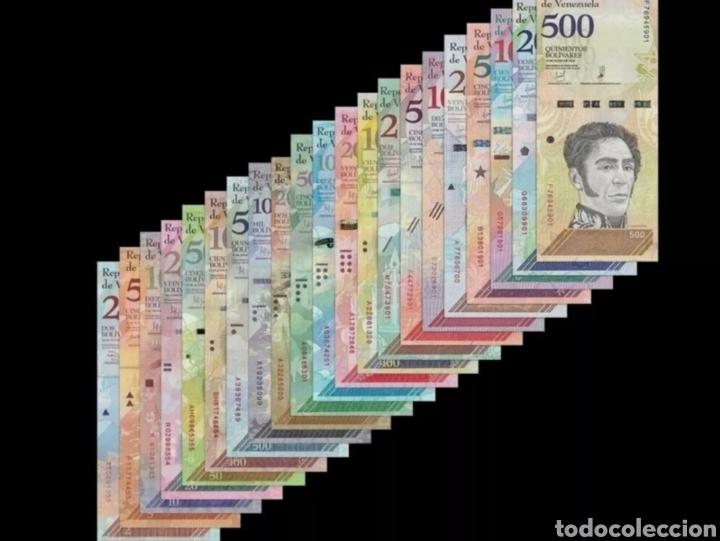 Lotes de Billetes: LOTE 21 BILLETES VENEZUELA 2007-2018 SIN CIRCULARFULL SET 21 PCS BOLIVARES UNC BANKNOTES - Foto 2 - 271069218