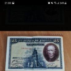 Lotes de Billetes: PAREJA CORRELATIVA DE BILLETES DE 25 PESETAS DE 1928 SERIE C. Lote 256059000