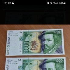 Lotes de Billetes: TRÍO CORRELATIVO DE 100 PESETAS DE 1992 SIN CIRCULAR. Lote 256059180