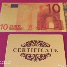Lotes de Billetes: *BILLETE EN ORO LAMINADO, CONMEMORATIVO DEL €URO.. Lote 261359240