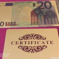 Lotes de Billetes: *BILLETE EN ORO LAMINADO, CONMEMORATIVO DEL €URO.. Lote 261359570