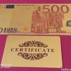 Lotes de Billetes: *BILLETE EN ORO LAMINADO, CONMEMORATIVO DEL €URO.. Lote 261362320
