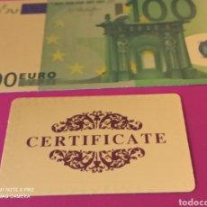 Lotes de Billetes: *BILLETE EN ORO LAMINADO, CONMEMORATIVO DEL €URO.. Lote 261363285