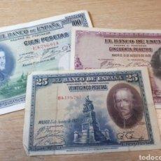Lotes de Billetes: TRES BILLETES DE ESPAÑA USADOS. Lote 262061195