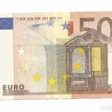 Lotes de Billetes: BILLETE 50 EUROS 2002 LETRA V DE ESPAÑA- FIRMA DUISENBERG- PLANCHA M007H4. Lote 264325376