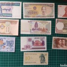 Lotes de Billetes: LOTE DE 10 BILLETES EXTRANJEROS SIN CIRCULAR. Lote 184571777