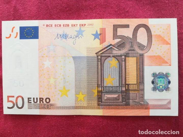 BILLETE 50 EURO 2002 S/C LETRA V - ESPAÑA FIRMA DRAGI (Numismática - Notafilia - Series y Lotes)