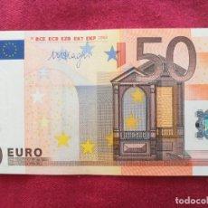 Lotes de Billetes: BILLETE 50 EURO 2002 S/C LETRA V - ESPAÑA FIRMA DRAGI. Lote 266121243