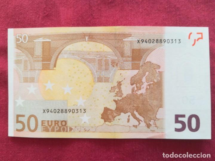 Lotes de Billetes: Billete 50 euro 2002 s/c letra X - Alemania firma Dragi - Foto 2 - 266121628