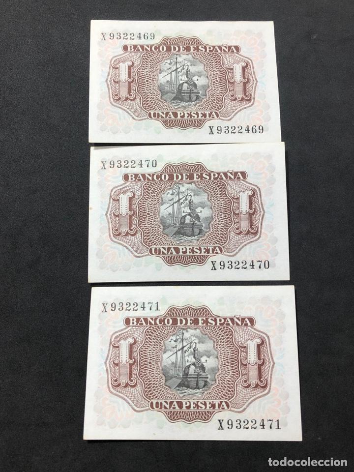 Lotes de Billetes: Trío correlativo de billetes de 1 peseta de 1953. Sin circular. - Foto 2 - 267149514