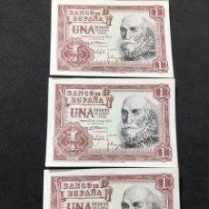 Lotes de Billetes: TRÍO CORRELATIVO DE BILLETES DE 1 PESETA DE 1953. SIN CIRCULAR.. Lote 267149514