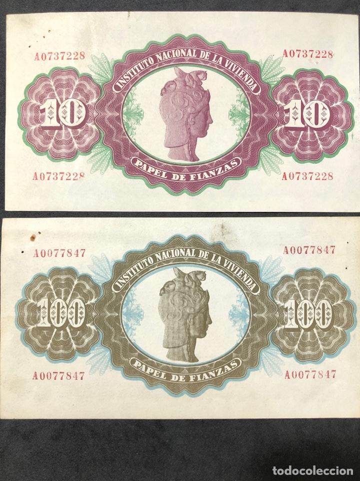 Lotes de Billetes: Original Papel de Fianzas. 2 billetes de 10 pesetas y 100 pesetas. - Foto 4 - 267241639