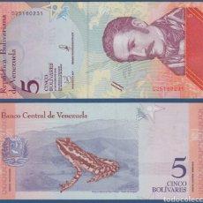 Lotes de Billetes: LOTE 10 BILLETES 5 BOLIVARES SOBERANOS VENEZUELA 2018 ASIN CIRCULAR. Lote 270128068