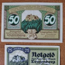 Lotes de Billetes: ALEMANIA. 2 BILLETES NOTGELD STADT LEUTENBERG (SERIE COMPLETA). SIN CIRCULAR!!!. Lote 276047038