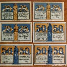 Lotes de Billetes: ALEMANIA. 6 BILLETES NOTGELD STADT HALBERSTADT (SERIE COMPLETA). SIN CIRCULAR!!!. Lote 276708198
