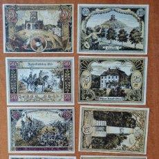 Lotes de Billetes: ALEMANIA. 10 BILLETES NOTGELD STADT HOHENFRIEDEBERG (SERIE COMPLETA). SIN CIRCULAR!!!. Lote 276708418