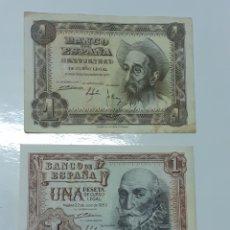Lotes de Billetes: LOTE DE BILLETES DE 1 PESETA ,LOS DE LA FOTO. Lote 284535313
