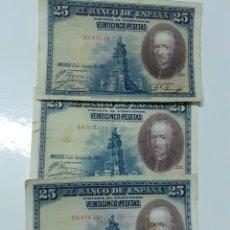 Lotes de Billetes: LOTE DE BILLETES DE 25 PESETAS 1928,LOS DE LA FOTO. Lote 284535578